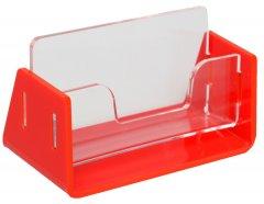 Визитница одинарная Wissaider Двухэлементная (акрил 3 мм) + красная основа 3 мм (WiS-046)