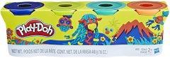 Набор для лепки Hasbro Play-Doh 4 баночки (B5517_E4867)