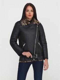 Куртка зі штучної шкіри H&M 0537544 32 Чорна з леопардовим (5523000012545)