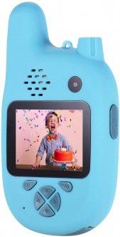 Цифровой детский фотоаппарат XOKO KVR-500 Walkie Talkie Рация и две камеры Голубой (KVR-500-BL)(9869201544420)