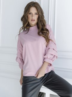 Блузка ISSA PLUS SA_21 S Розовая (2000423157037)