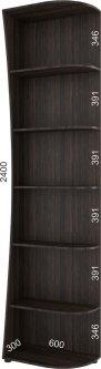 Консоль радиусная Феникс FM003284 240 x 30 x 60 см Венге магия