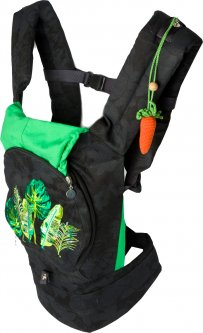 Эрго-рюкзак для переноски ребенка Модный карапуз с сеточкой для проветривания Черный (03-00736) (4823870873637)