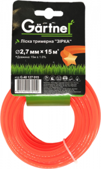"""Леска для садових триммеров Gartner """"Звезда"""" 2.7 мм × 15 м (4822401270150)"""