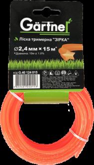 """Леска для садових триммеров Gartner """"Звезда"""" 2.4 мм × 15 м (4822401240153)"""