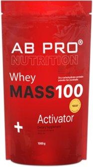 Гейнер AB PRO Mass 100 Whey Activator 1000 г Банан (MASS100ABBA40)