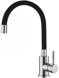 Смеситель кухонный SILVER Basis SLIN0484BL