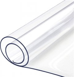 """Гибкое прямоугольное покрытие для стола Mindo """"Мягкое стекло"""" 60 х 120 х 0.2 см Прозрачное (md7001)"""