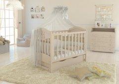 Детская кроватка Angelo Lux-2 Кремовый (11005)