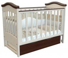 Детская кроватка Angelo Lux-4 Кремовый с Темным орехом (11007)