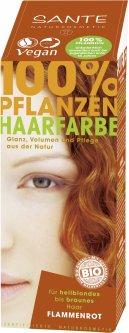 Био-краска-порошок для волос Sante растительная Красное пламя/Flame Red 100 г (4025089041863)