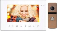 Комплект видеодомофона CoVi Security Onyx FHD White + Iron FHD Bronze