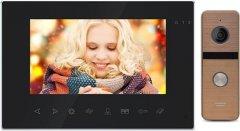 Комплект видеодомофона CoVi Security Onyx FHD Black + Iron FHD Bronze