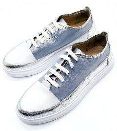 Кеди Rifellini R 173-108 417 38 Білі з сріблястим