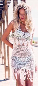 Платье пляжное Admas 19416 L Белое (8433623318061)