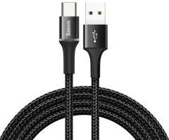 Кабель Baseus Halo Data Cable USB for Type-C 3A 1 м Black (CATGH-B01)