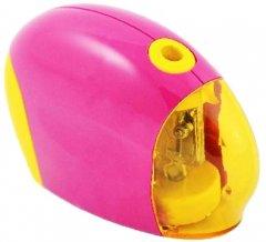 Точилка автоматическая KLERK пластиковая на батарейках Розовая (Я43365_KL2411)