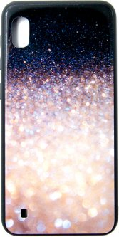 Панель Dengos Glam для Samsung Galaxy A10 2019 (A105) Black/White (DG-BC-GL-59)