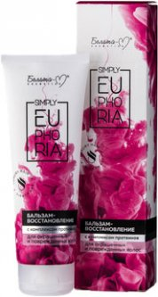 Бальзам-восстановление Белита-М Simply Euphoria с комплексом протеинов для окрашеных и повреженных волос 125 г (4813406007735)