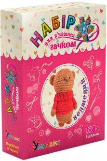 Набор для творчества Умняшка Вязание крючком. Медвежонок (4820129201098) (ВК-003)