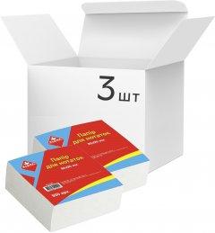 Упаковка бумаги для заметок KLERK 90 x 90 мм не склеенной 900 листов Белой 3 шт (Я44661_KL2100_3)