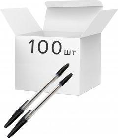 Упаковка ручек шариковых KLERK 0.7 мм Черных 100 шт Прозрачный корпус (Я44665_KL0435-B_100)
