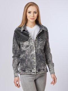 Джинсовая куртка Mila Nova Q-29 50 Черная (2000000011745)