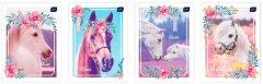 Набор тетрадей ученических 20 шт Interdruk Premium I Love My Pony А5+ в клетку 12 листов (4 дизайна) (270153)