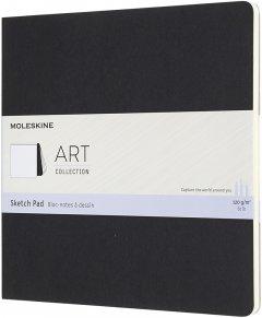 Скетчбук Moleskine Art Pad для Рисования 19 х 19 см 48 страниц без линовки Чёрный (8058647626833)