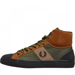 Кеди Fred Perry Hughes Mid Hike Poly/Suede Ginger Tan, 40 (11042260)