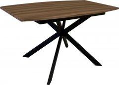 Стол обеденный Eagle Solere 75 х 85 x 140 - 180 см Black/Brown (E3612)