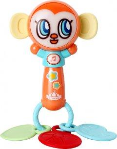 Игрушка музыкальная Mommy Love Обезьянка с прорезывателями для зубов (KD3101-1) (4812501171020)