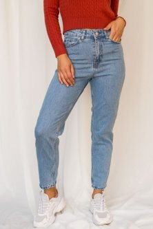 Класические мом джинсы Lurex голубой (L)