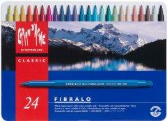 Набор Фломастеров Caran d'Ache Fibralo металлический бокс 24 цвета (7610186303241)