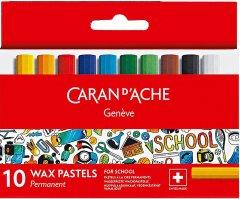 Пастель восковая Permanent Caran d'Ache School Line картонный бокс 10 цветов (7610186239106)