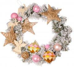 """Рождественский венок Новогодько (YES! Fun) с декором """"Звездное небо"""" d-35 см (904388)"""