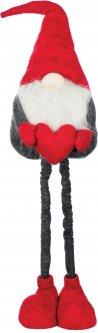 Фигурка новогодняя Jumi Леприкон с сердцем 75 см Красная с серым (5900410374201)