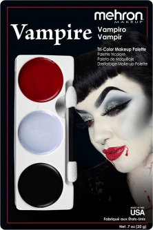 "Набор кремового грима для образа Mehron Tri-Color Makeup Palette ""Вампир"" 20 г (403-V) (764294503981)"