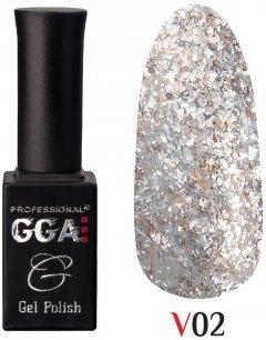 Гель-лак GGA Professional коллекция Vegas 02 Французский серый 10 мл (1213077618422)