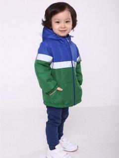 Демисезонная куртка Модный карапуз 03-01077-0 98 см Синяя с зеленым (4824829410774)