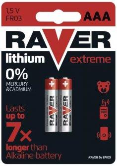 Батарейка Raver by Emos B7811 ААА Литий BLI 2 шт ( B7811)