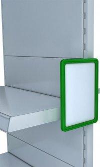 Рамка с карманом-протектором Европос А5 с магнитным держателем 0 градусов MAGNET-0+PFPP-А5, Зеленый (P1009/07)