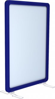 Рамка с карманом-протектором Европос А5 на подставках 2/BASE-90+PFPP-A5, Синий (P1005/28)