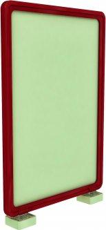 Рамка с карманом-протектором Европос А4 с магнитным держателем 90 градусов 2/MAGNET-90+PFPP-A4, Красный (P1006/06)