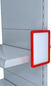Рамка с карманом-протектором Европос А5 с магнитным держателем 0 градусов MAGNET-0+PFPP-А5, Красный (P1009/06)
