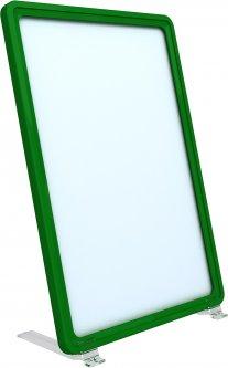 Рамка с карманом-протектором Европос А5 на подставке 75 градусов 2/BASE-75+PFPP-А5, Зеленый (P1004/07)