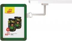 Рамка с карманом-протектором на магнитном кронштейне Европос MGT-SW+PF-А5, Зеленый (P1011/07)
