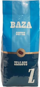 "Кофе в зернах Baza Coffee Zealous ""Z"" 50% Арабика 50% Робуста 1 кг (4820215240031)"
