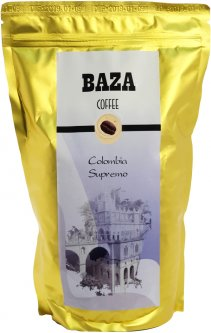 Кофе в зернах Baza Colombia Supremo Арабика моносорт 500 г (4820215240086)