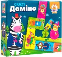 Игра настольная Vladi Toys Crazy Домино (укр) (VT8055-10) (4820195057322)